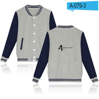 Resident Evil Alice Baseball Jacket Capless Thick Winter Hoodie Men Famous Film Mens Hoodies And Sweatshirts 4XL Jacket Clothes