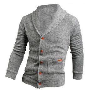 Fashion Sweater Lapel Mens Cardigan Sweater Fashion Knitted Sweater Coat of Cultivate One's Morality