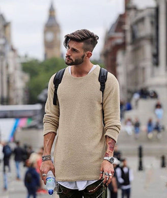 New Spring Autumn Fashion Men's O-neck Casual Slim Fit Knitwear Top Long Sleeve  Fashion Men Clothing Knitted Sweaters Pullover