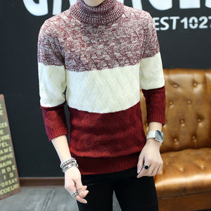 Men of 2018 autumn winters warm turtleneck collar of cultivate teenagers with thick sweater