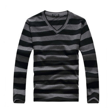 BFYL 2018 New Autumn Fashion Brand Casual Sweater V-Neck stripes Slim Fit Knitting Mens Sweaters And Pullovers Men Bts
