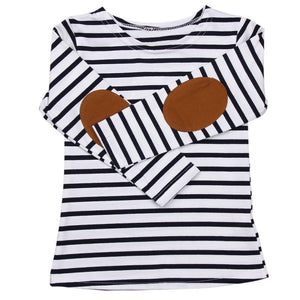 2017 Autumn Boys Child T-Shirt Children Striped Patchwork Tees Long Sleeve T Shirts Kids Clothes Blue Red Tops