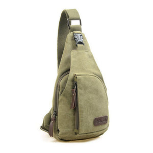 Hot 2018 men canvas good quality chest bag casual messenger bags military handbags design practical shoulder bags for male qn036