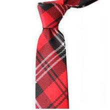 2018 plaid polyester men's slim ties for man neckties narrow 5cm width
