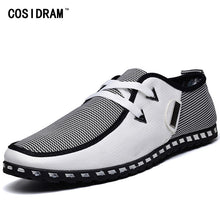 COSIDRAM Patchwork Canvas Men Shoes Fashion Men Casual Shoes For Male Sneakers New 2018 Spring Autumn RME-343