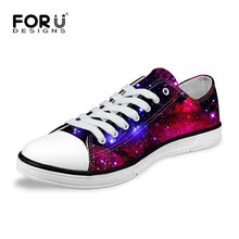 FORUDESIGNS 2018 Hot Men's High Top & Low Top Canvas Shoes Fashion Galaxy Stars Printed Man Vulcanize Shoes Casual Male Flats