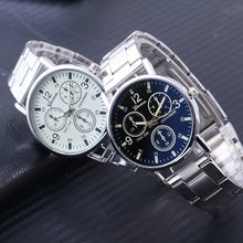 New Luxury Brand Geneva Watch Men Silver Quartz Wristwatches Full Steel Fashion Military Analog Men's Watches Relogio Masculino