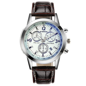 Quartz wristwatches  Reloj Hombre  Leather Bracelet  Men's Watches Military   Buckle Clock  Watch  18JAN4