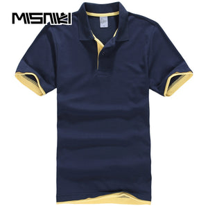 MISNIKI Brand 2018 Summer Polo Shirt Men Short Sleeve Breathable Cotton Casual Short Sleeve Mens Polo Shirts Lovers Women Polo