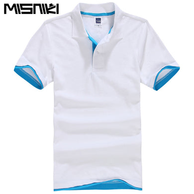 2018 new summer men polo shirts short sleeve cotton solid color stand collar man's polo XS-3XL AXP47