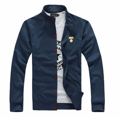MALL New Hot men's boutique leisure pure cotton Sweatshirts Male fall leisure coat Men labeling casual jackets