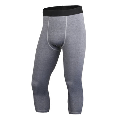 Men's High Elastic Calf-Length Compression Pants Casual Joggers Comfort Clothing Tights Leggings Bottoms LM93