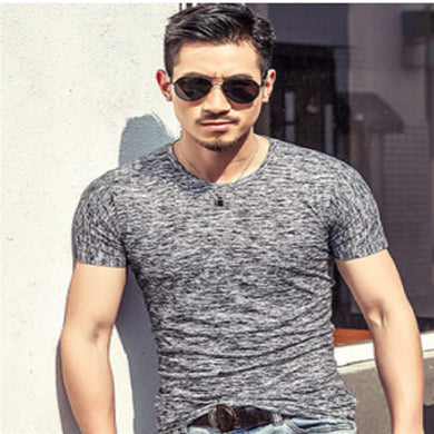 T-Shirt Men 2017 Spring Autumn New Fashion Men's Tee Shirt Slim Fit O Neck Short Sleeve Muscle Casual Tops T Shirts