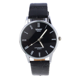 famous brand watches men luxury brand watch Classic Men Roman Number Analog Quartz Electronic PU Leather Wrist Watch Male Clock