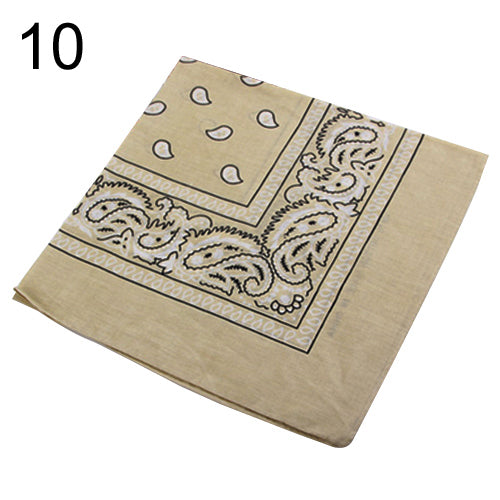 Hip-hop bandanas for men women head scarf Scarves multi colour style Wristband Cotton 100%  9E37