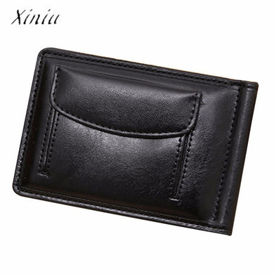 Short Leather Men Wallets Card Cash Receipt Holder Organizer Bifold Wallet Purse New Design Dollar Price Top Business Wallet Men