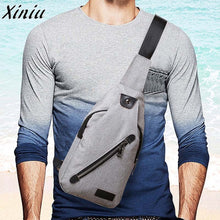 High Quality Men Bag Clutch Canvas Unbalance Crossbody Shoulder Bag Chest Bag Male Mini Handbags Casual Messenger Bags