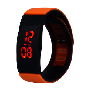 2018 fashion Fashion men's watch Mens Womens Striking Silicone Red LED Sport Bracelet Touch Digital Wrist Watch dropshipping