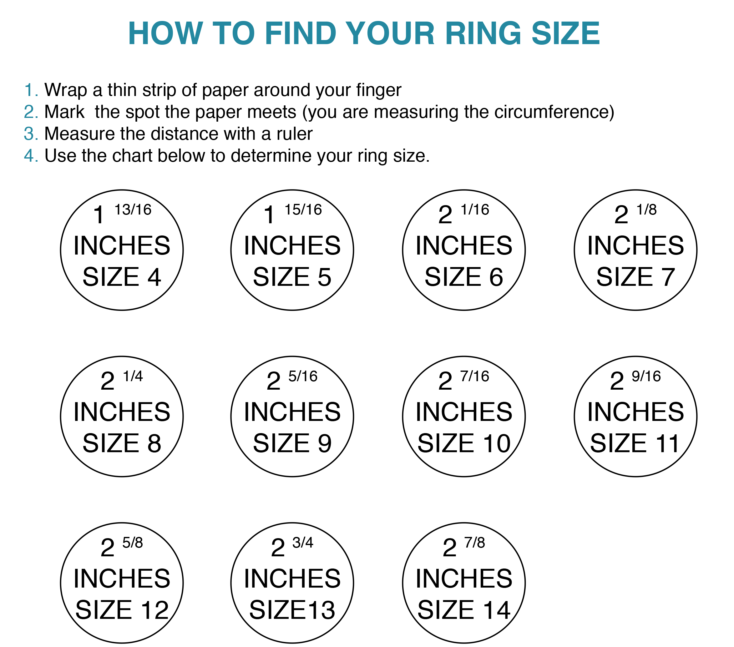 Ring size chart lola wolfe jewelry for otherworldly babes nvjuhfo Image collections