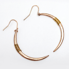 Moon Hook Drop Earrings - lola wolfe | handmade jewelry designs