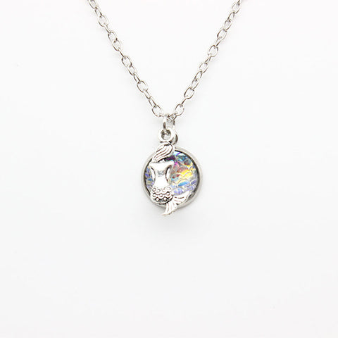Holographic Mermaid Necklace - lola wolfe | handmade jewelry designs
