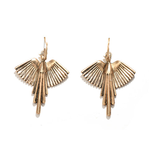 Gold Eagle Earrings - lola wolfe | handmade jewelry designs