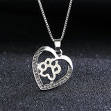 Paw Print Heart Necklace - lola wolfe | handmade jewelry designs