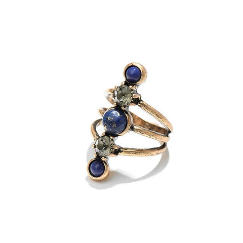 Blue Stone Bead Ring - lola wolfe | handmade jewelry designs