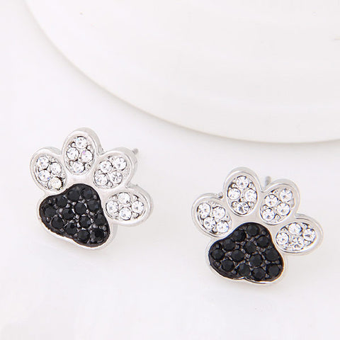 Dog Paw Stud Earrings - lola wolfe | handmade jewelry designs