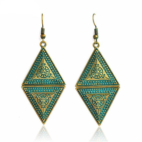 Rhombic Drop Earrings - lola wolfe | handmade jewelry designs