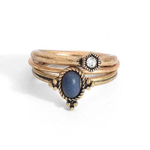 Blue Stone Ring Sets - lola wolfe | handmade jewelry designs