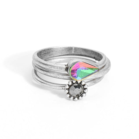 Colorful Glass Ring Set - lola wolfe | handmade jewelry designs