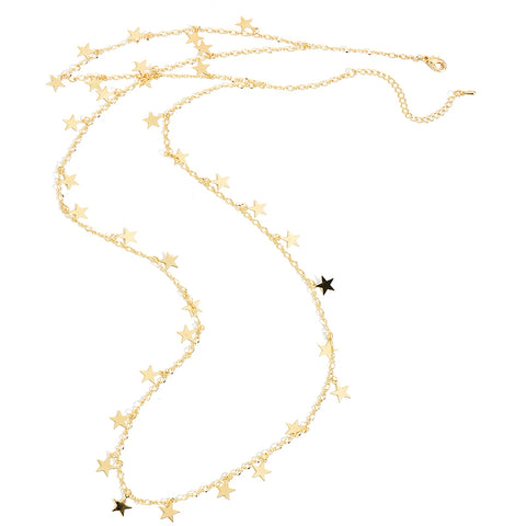 Delicate Double Layer Star Choker - lola wolfe | handmade jewelry designs