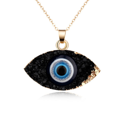 Simple Evil Eye Chain Necklace - lola wolfe | handmade jewelry designs