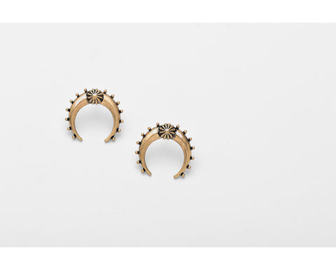 Horn Studs - lola wolfe | handmade jewelry designs