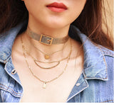 4 Layered Choker - lola wolfe | handmade jewelry designs