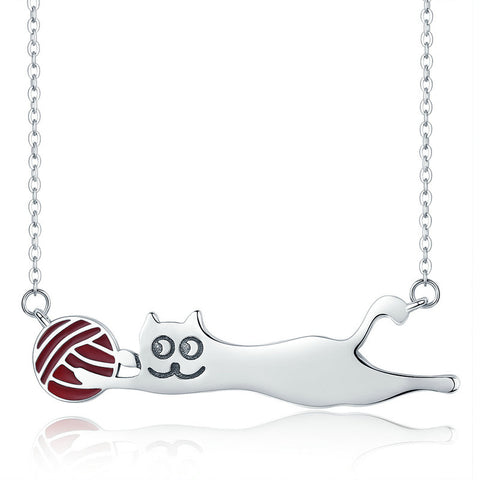 Naughty Cat Necklace - lola wolfe | handmade jewelry designs