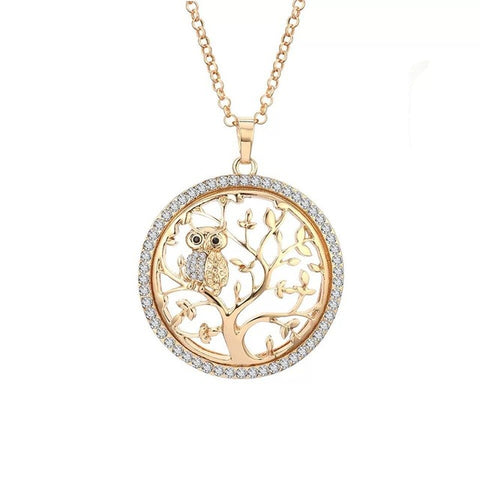 The Tree Of Life And Owl Necklace - lola wolfe | handmade jewelry designs