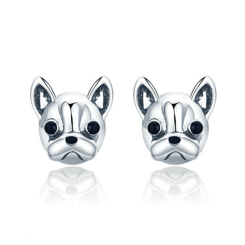 French Bulldog Earrings - lola wolfe | handmade jewelry designs