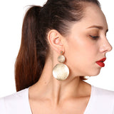 Big Round Metal Dangle Earrings - lola wolfe | handmade jewelry designs