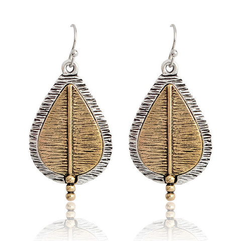 Gold Leaf Earrings - lola wolfe | handmade jewelry designs