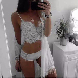 April White Lace Bra & Panty Set