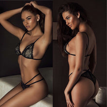 Adriana Sexy Black Lace Lingerie Set