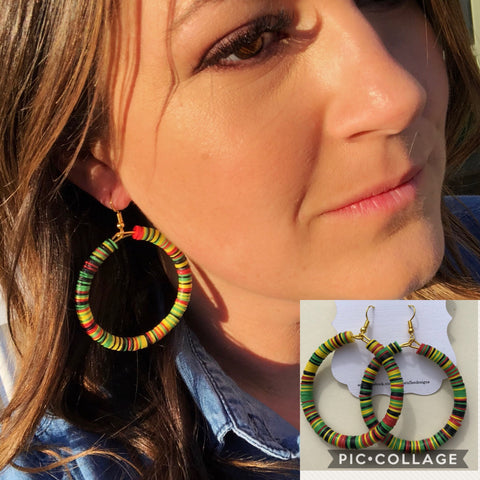 Vinyl Disc Earrings