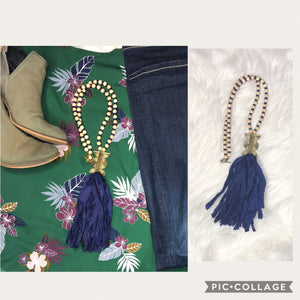 Silk Sari Tassel Necklace