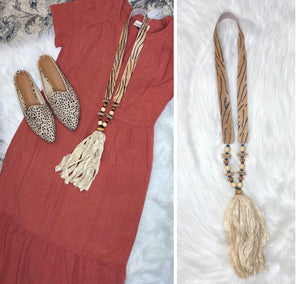 Hide Tassel Necklace