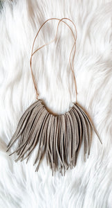 Taupe Suede Necklace