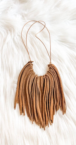 Camel Suede Necklace