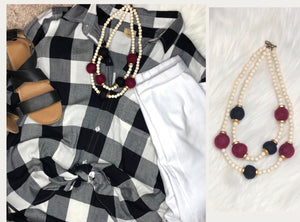 USC Pom Pom Necklace