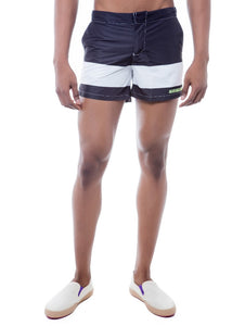 Black & White Panel Swim Short